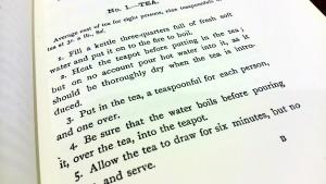 19世紀の本に書かれた紅茶のレシピ